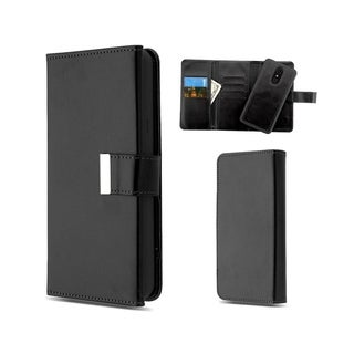Insten Detachable Magnetic Folio Flip Leather Wallet Flap Pouch Case Cover for LG Stylo 4/Stylo 4 Plus