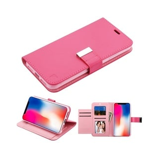 Insten Stand Folio Flip Leather Mirror Case Cover for Apple iPhone XR