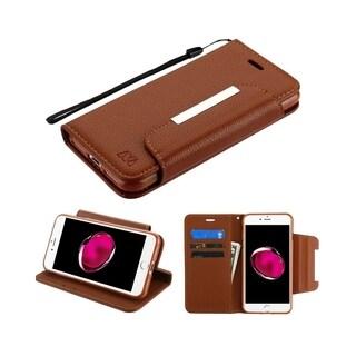 Insten Stand Folio Flip Leather Case Cover for Apple iPhone 7 Plus/8 Plus
