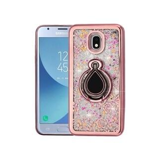 Insten Rose Gold Iris Hard Snap-on Case For Samsung Galaxy Express Prime 3/J3 (2018)/J3 Achieve/J3 Star/J3 V 3rd Gen (2018)