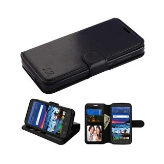 Insten Black MyJacket Leather Case Cover with Stand For Alcatel Cameo X/idealXCITE/Verso