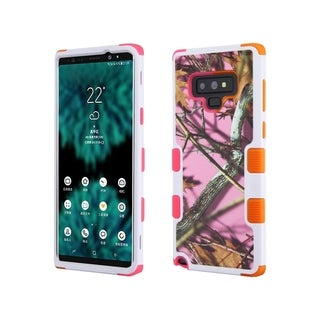 Insten Pink/Orange Oak-Hunting Camouflage Tuff Hard Snap-on Dual Layer Hybrid Case Cover For Samsung Galaxy Note 9