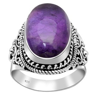 Handmade 925 Sterling Silver Wedding Ocean Bridal Ring with Choice of Gemstone
