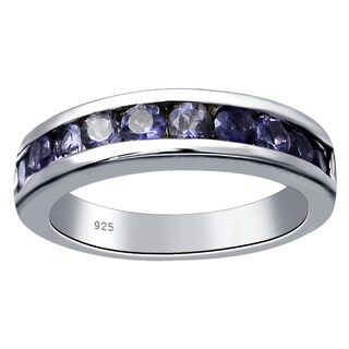 Sterling Silver 1 Ct TGW Iolite Stacklable Band Ring