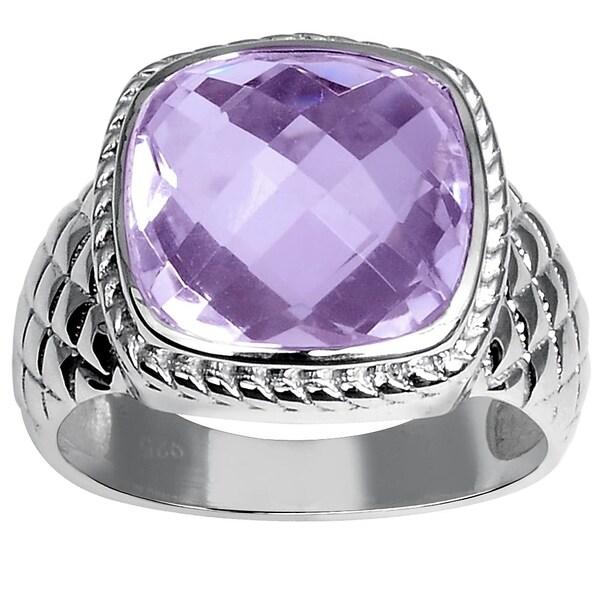 b5224b7e4cb64 Shop Essence Jewelry 6 Ctw Pink Amethyst Sterling Silver Ring - Free ...