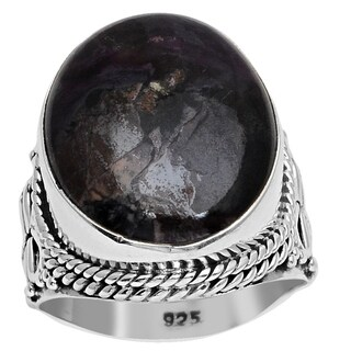 Essence Jewelry 18 1/3 Carat Sugilite 925 Sterling Silver Handmade Ring