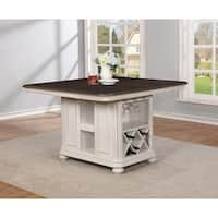 West Chester White Wood Traditional Kitchen Island