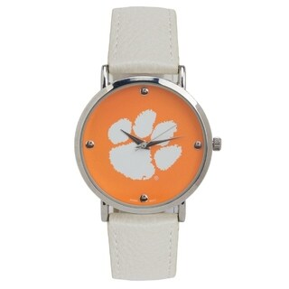 Clemson University Tigers Licensed Collegiate Analog Watch Japanese Movement 40mm - White - One size