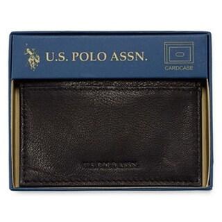 U.S. Polo Assn. Genuine Goat Wallet, Clear ID Window