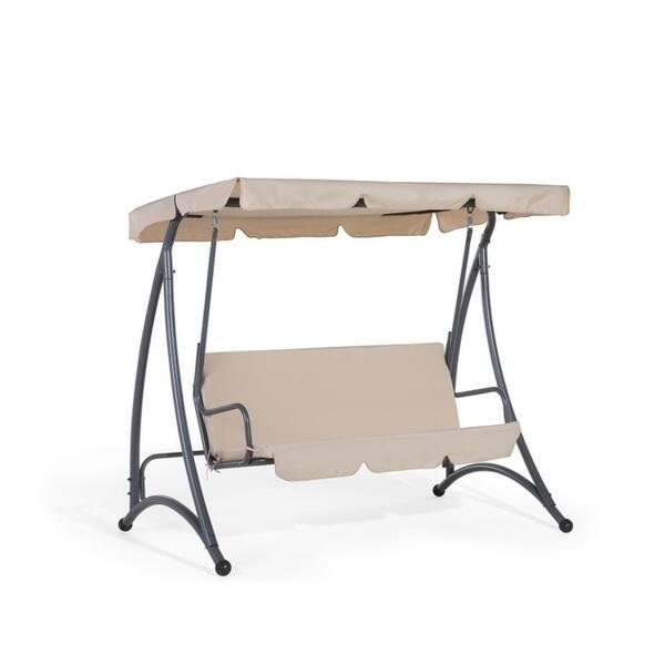 Peachy Shop Garden Swing Swing Seat 3 Seater Beige Temple Creativecarmelina Interior Chair Design Creativecarmelinacom