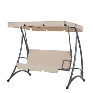 Garden Swing - Swing Seat - 3 Seater - Beige - TEMPLE