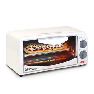 Elite Cuisine ETO-224 Toaster Oven, White
