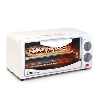 Elite Cuisine ETO-224 Large Toaster Oven, White