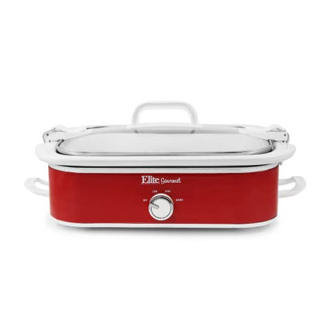 Elite MST-5240 3.5-Quart Slow Cooker with Locking Lid