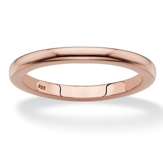 Rose Gold-plated Sterling Silver Ring (2mm)