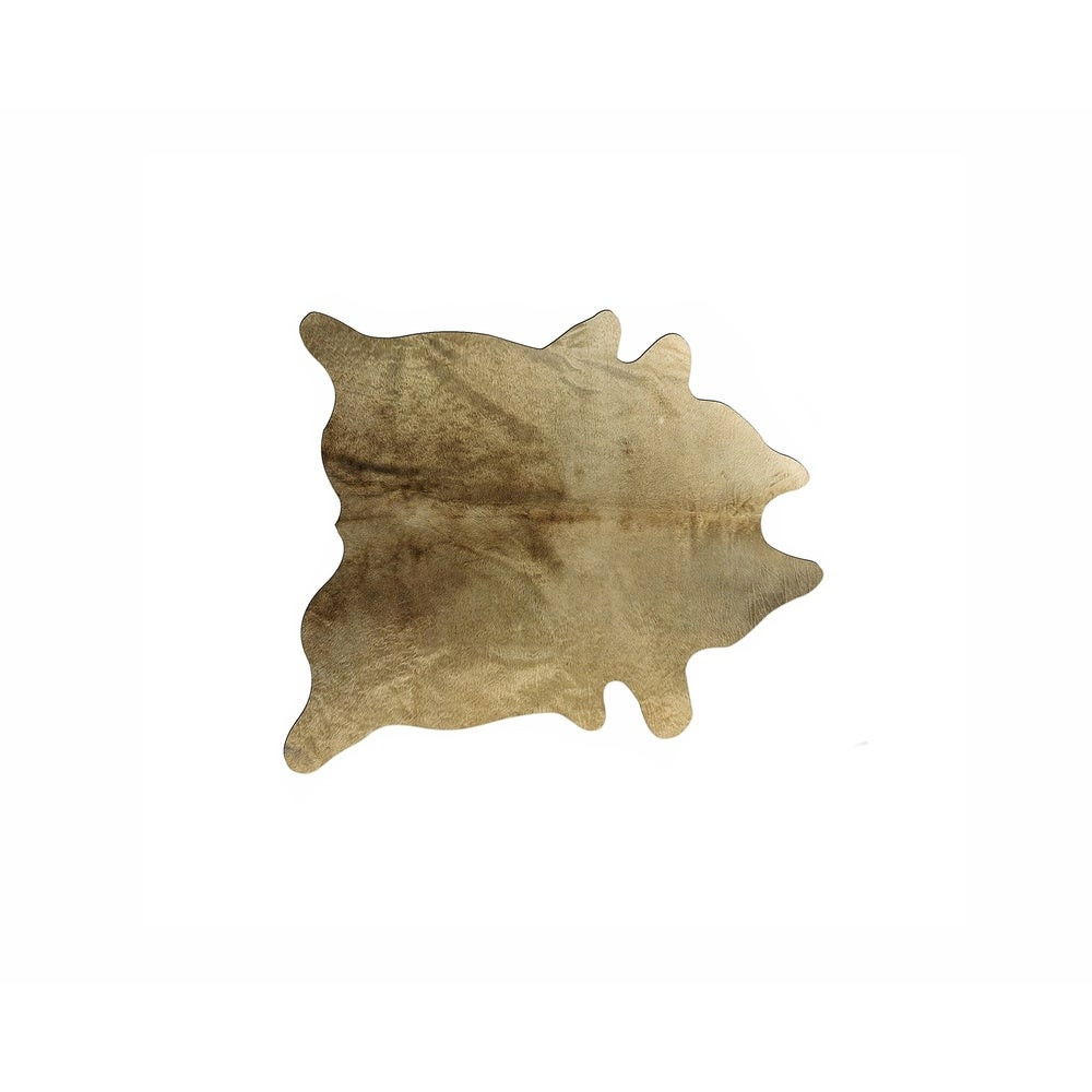 "METALLIC BROWN PLAID Cow Hide Leather 8/""x8/"" Piece"
