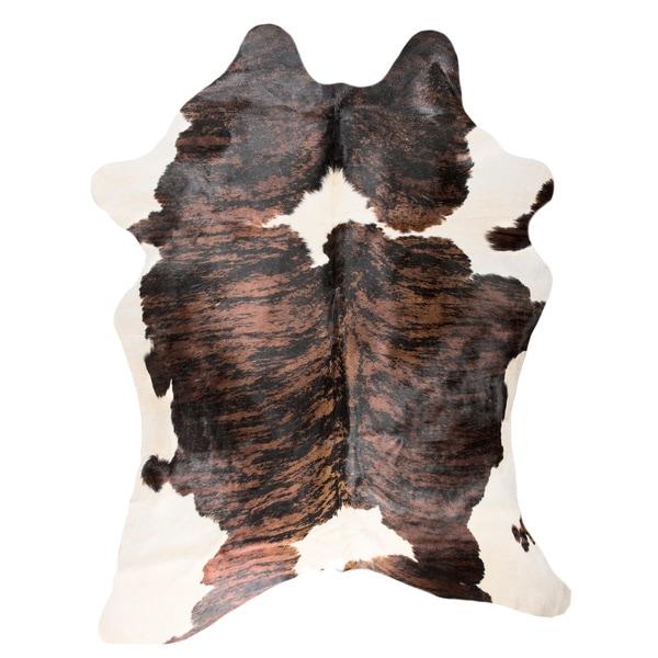 Carbon Loft Alzayyat Brown/ White Cowhide Area Rug - 5' x 7'