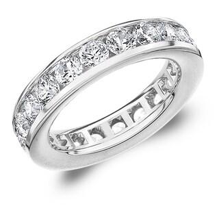 3CT Classic Channel Set Lab Grown Diamond Eternity Ring, E-F/VS