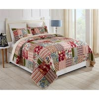Nathan Patchwork Quilt Set - Multi-color