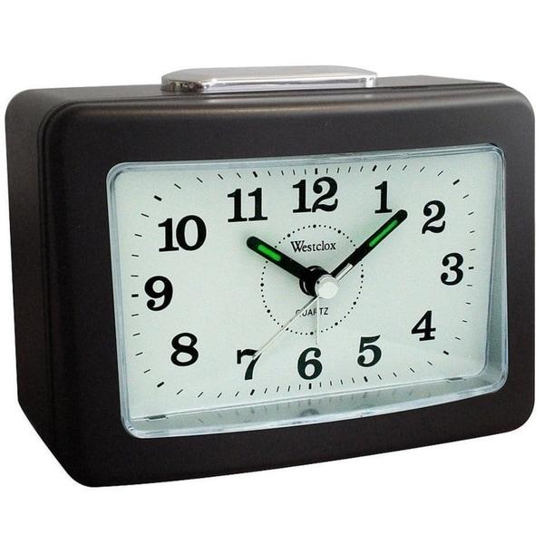 Westclox Analog Quartz Loud Bell Black Alarm Clock 47550. Opens flyout.