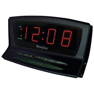 Link to Westclox Digital LED Snooze Black Auto Set Alarm Clock 70012BK Similar Items in Decorative Accessories