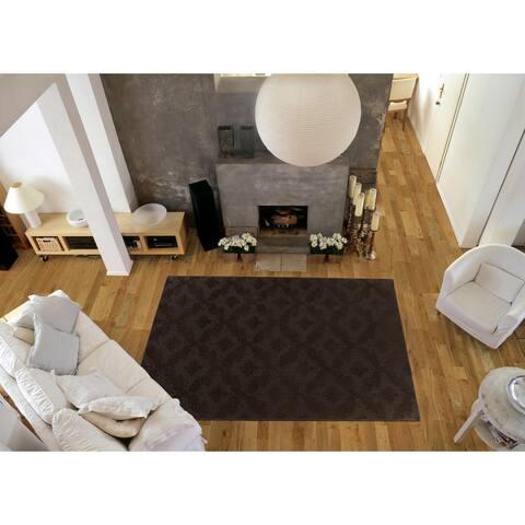 Charleston Mocha Living Room Area Rug