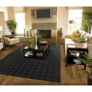 Diamond Black  Large Living Room Area Rug