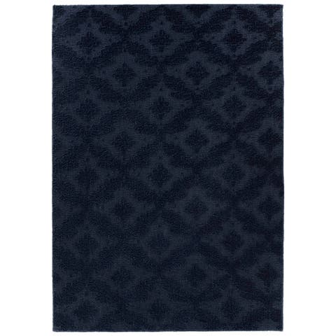 Charleston Navy Living Room Area Rug