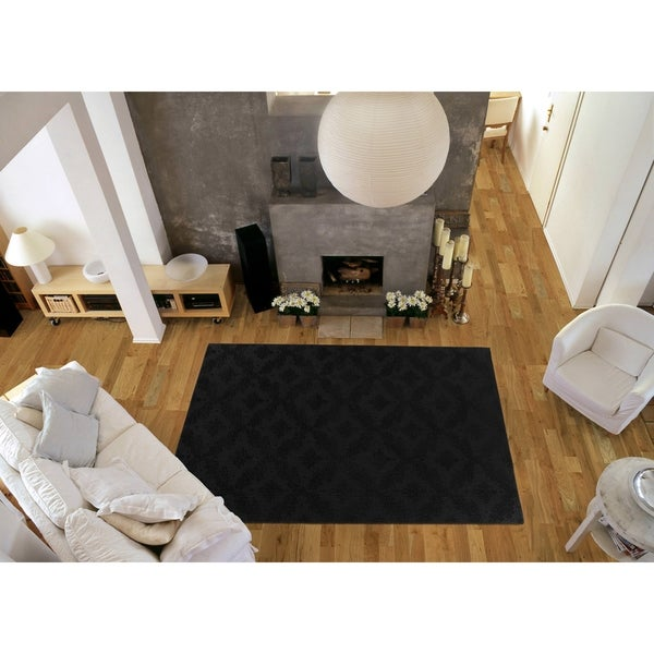 Shop Charleston Black Living Room Area Rug