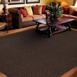 Porch & Den Helvetia Chocolate Ivy Pattern Area Rug