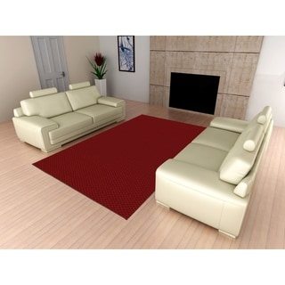 Medallion Chili Red Living Room Area Rug