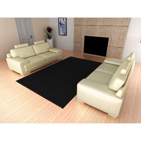 Medallion Black Living Room Area Rug