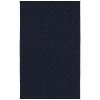 Medallion Navy  Living Room Area Rug