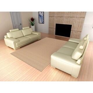 Medallion Tan Living Room Area Rug