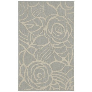 Rhapsody Silver/Ivory  Living Room Area Rug