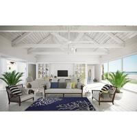 Sea Coral Indigo/Ivory  Living Room Area Rug