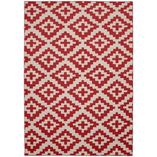 Southwest Red Chili/Ivory Living Room Area Rug - 5' x 7'