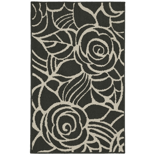 Rhapsody Cinder/Ivory Living Room Area Rug