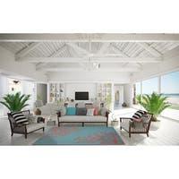 Sea Coral Teal/Santa Fe Coral  Living Room Area Rug