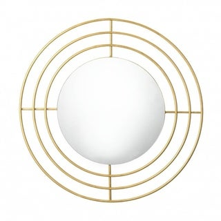 Accent Plus Modern Contemporary Decorative Round Wall Mirror - Gold