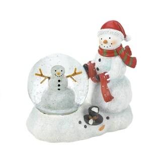 Christmas Collection Holiday Decorative Polyresin Snowman LED Snow Globe