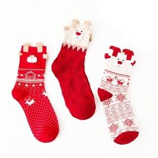 Festive Christmas Socks 3 Pair Set