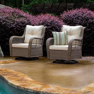 Tortuga Outdoor Rio Vista 2 Piece Swivel Glider Chair Set