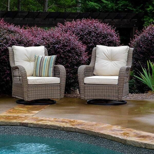 Wondrous Shop Havenside Home Coal Bay 2 Piece Swivel Glider Chair Set Machost Co Dining Chair Design Ideas Machostcouk
