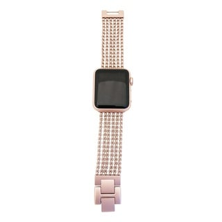 6 Row Chain Link Apple Watch Band in Rose Gold - for 42/44mm Face