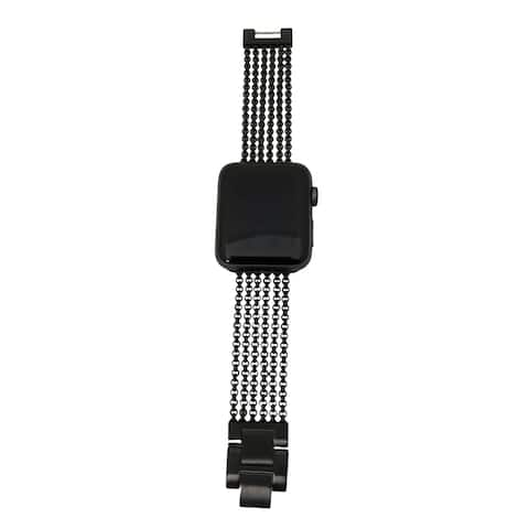 6 Row Chain Link Apple Watch Band in Black - for 42/44mm Face