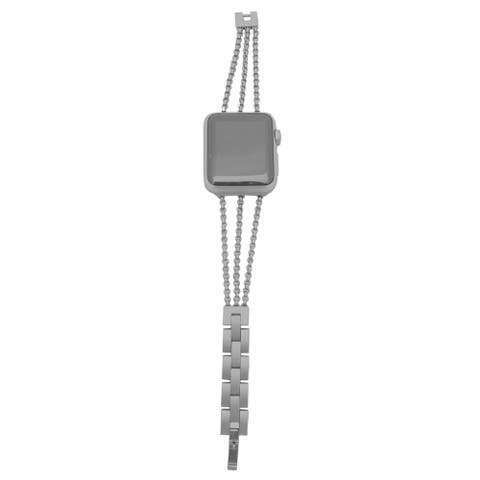 3 Row Chain Link Apple Watch Band in Black - for 40/42mm Face