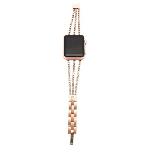 3 Row Chain Link Apple Watch Band in Rose Gold - for 40/42mm Face
