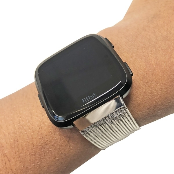 Shop Multiple Strand Toggle Fitbit Versa Band in Silver