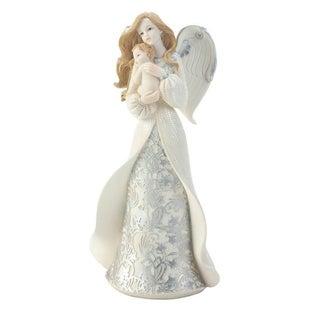 Wings of Devotion Polyresin Tabletop Angel Cradling Baby Decorative Figurine